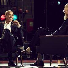 Non c'è bisogno di presentazioni con David Letterman: una foto dello show