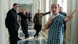 The Death of Stalin: Armando Iannucci sul set con il cast