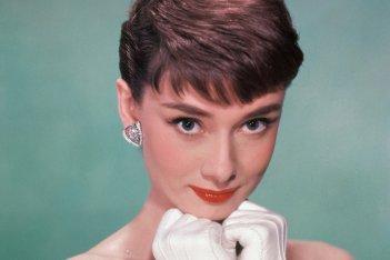 Un primo piano di Audrey Hepburn