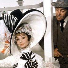 My Fair Lady: Audrey Hepburn e Rex Harrison in una scena del film