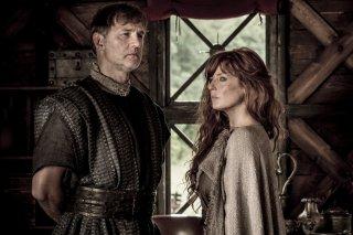 Britannia: David Morrissey e Kelly Reilly in una scena della prima stagione