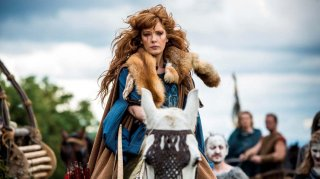 Britannia: Kelly Reilly in una scena della prima stagione