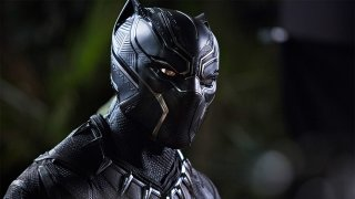 Black Panther: Chadwick Boseman in una foto del film