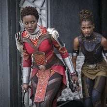 Black Panther: Lupita Nyong'O e Letitia Wright in una foto del film