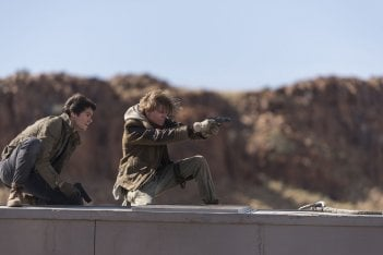 Maze Runner - La rivelazione: Dylan O'Brien e Thomas Brodie-Sangster in una scena del film