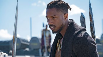 Black Panther: Michael B. Jordan in una foto del film