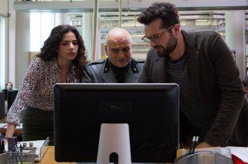 Sono tornato: Massimo Popolizio, Eleonora Belcamino e Frank Matano in una scena del film