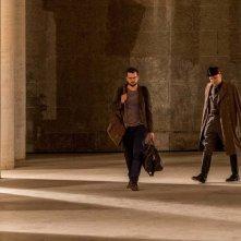 Sono tornato: Massimo Popolizio e Frank Matano in una scena del film