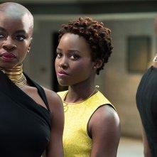 Black Panther: una foto delle attrici Danai Gurira e Lupita Nyong'O