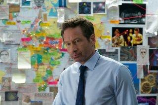 X-Files: David Duchovny in una scena dell'episodio L'effetto Mandela
