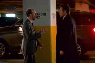 X-Files: David Duchovny e Brian Huskey in una scena dell'episodio L'effetto Mandela