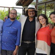 Alessandro Borghese con i ristoratori concorrenti di 4 ristoranti