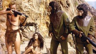 Il pianeta delle scimmie: Charlton Heston in un momento del film