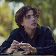 Lady Bird: Timothée Chalamet in una scena del film