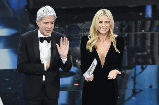 Michelle Hunziker e Claudio Baglioni a Sanremo 2018