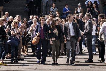 Nome di donna: Cristiana Capotondi, Stefano Scandaletti e Michela Cescon in una scena del film