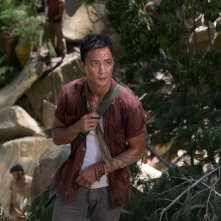 Tomb Raider: Daniel Wu in una scena del film