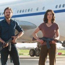 7 Days in Entebbe: Rosamund Pike e Daniel Brühl in una scena del film