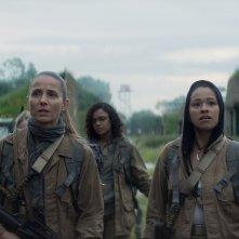 Annientamento: Natalie Portman, Tuva Novotny, Gina Rodriguez e Tessa Thompson durante una scena