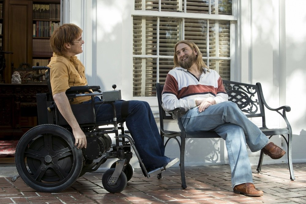 Don't Worry, He Won't Get Far on Foot: Joaquin Phoenix e Jonah Hill in una scena del film