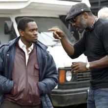Yardie: Aml Ameen e il regista Idris Elba sul set del film