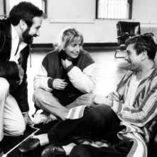 Risvegli: Robin Williams, Robert De Niro e la regista Penny Marshall sul set del film