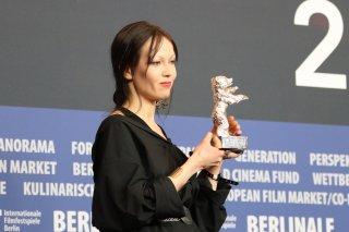 Berlino 2018: Elena Okopnaya alla conferenza dei premiati