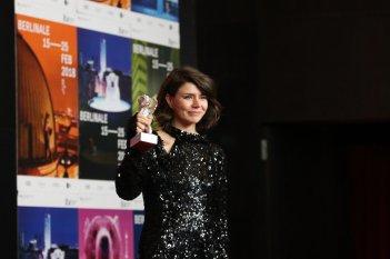 Berlino 2018: Malgorzata Szumowska alla conferenza dei premiati