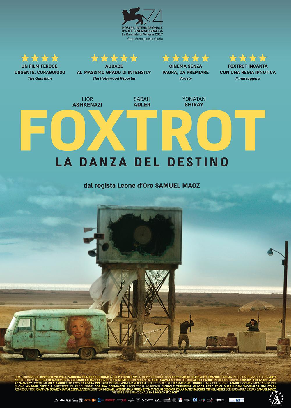 Foxtrot - manifesto italiano del film in esclusiva