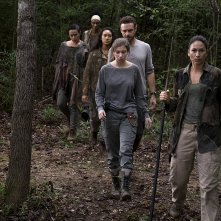 The Walking Dead: Nicole Barré, Sydney Park, Briana Venskus, Ross Marquand, e Katelyn Nacon nell'episodio The Lost and the Plunderers