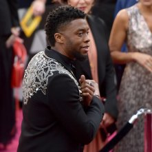 Oscar 2018: Chadwick Boseman sul red carpet