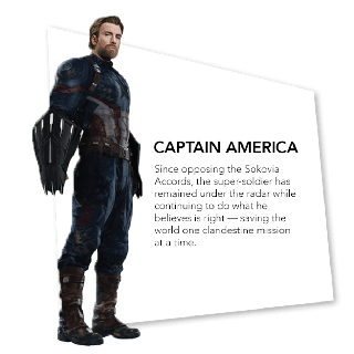 Avengers: Infinity War - Una action figure di Capitan America