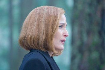 X-Files: Gillian Anderson durante un momento dell'episodio Familiar
