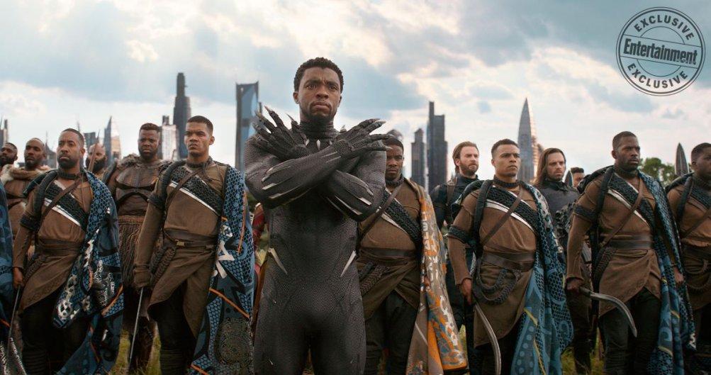 Avengers: Infinity War, Chadwick Boseman in una foto del film