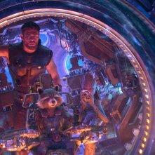 Avengers: Infinity War, una foto di Thor, Rocket e Groot