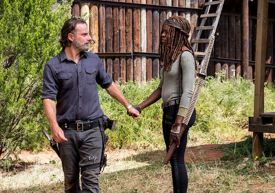 The Walking Dead: Andrew Lincoln e Danai Gurira in una foto di The Key