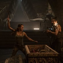 Tomb Raider: Alicia Vikander in una scena del film