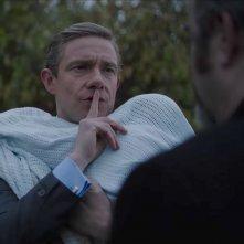 Ghost Stories: Martin Freeman in una scena del film