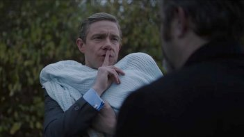 Ghost Stories: Martin Freeman in una scena del film