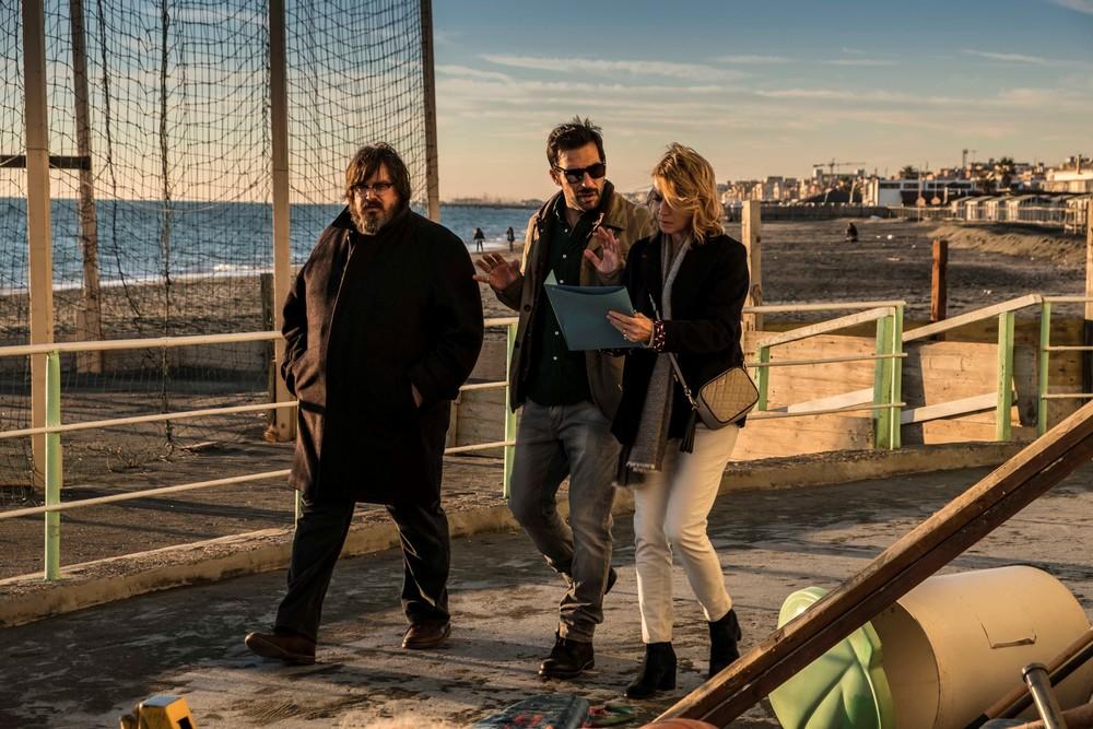 Io c'è: Margherita Buy, Giuseppe Battiston ed Edoardo Leo in una scena del film