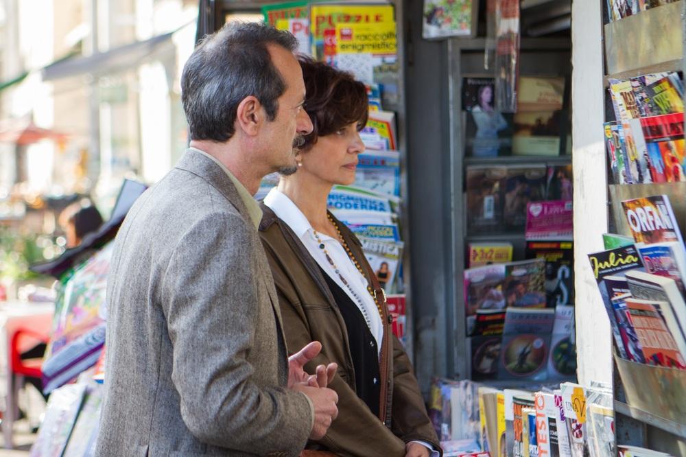 Bob & Marys - Criminali a domicilio: Rocco Papaleo e Laura Morante in un'immagine del film