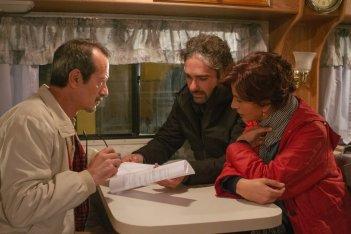 Bob & Marys - Criminali a domicilio: Rocco Papaleo, Laura Morante e il regista Francesco Prisco sul set del film