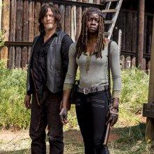 The Walking Dead: Danai Gurira e Norman Reedus nell'episodio The Key
