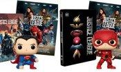 Justice League: su Amazon 5 bundle con Steelbook, Poster e i Funko dei supereroi DC