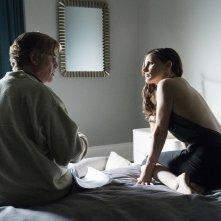 Molly's Game: Jessica Chastain e il regista Aaron Sorkin sul set del film