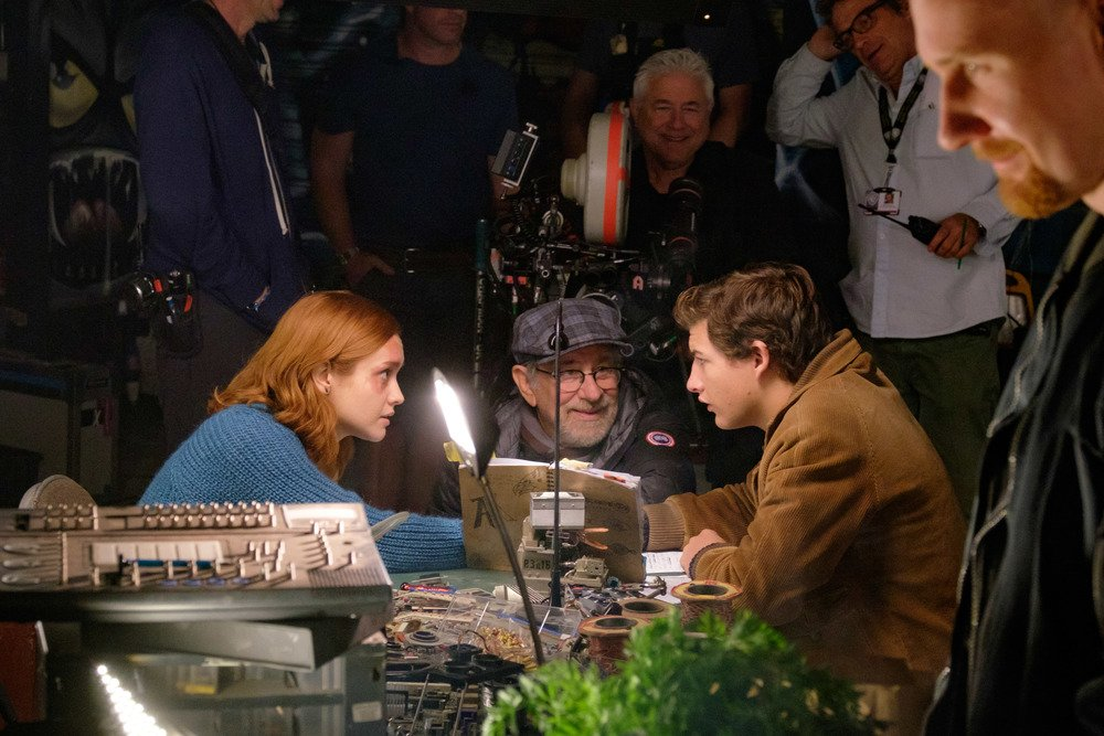 Ready Player One Steven Spielberg Tye Sheridan Olivia Cooke Set
