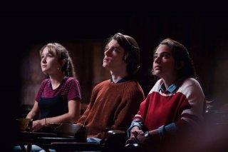 Succede: Matilde Passera, Matteo Giuggioli e Margherita Morchio in una scena del film