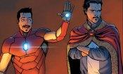 Avengers: Infinity War, una nuovo foto mostra il nuovo team Iron Man/Doctor Strange
