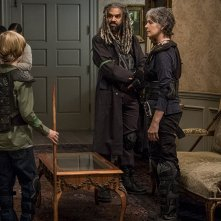 The Walking Dead: Melissa McBride, Khary Payton, Macsen Lintz  nell'episodio Do Not Send Us Astray