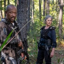 The Walking Dead: Lennie James e Melissa McBride in una foto di Still Gotta Mean Something